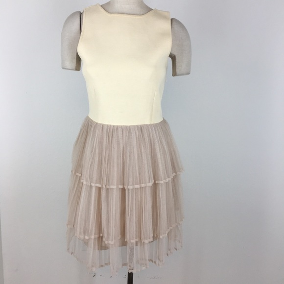 English Factory Dresses & Skirts - English Factory dress ivory beige tiered Formal